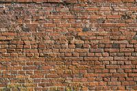 red brick wall for backgrounds and compositions