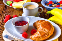 delicious croissant breakfast