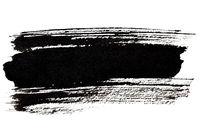 Black brush stroke closeup