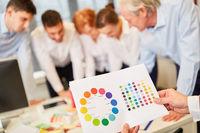 Farbpalette für Mediengestaltung im Workshop