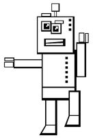 robot character coloring book