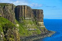 Kilt Rock basalt cliffs near Staffin, Isle of Skye, Scotland, Great Britain