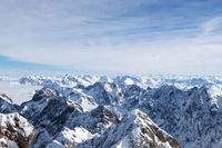 Zugspitze over the clouds