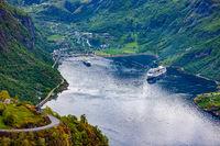 Geiranger fjord, Norway.