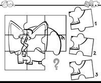 jigsaw activity coloring task