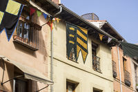 Tourism, traditional medieval festival in the streets of Alcala de Henares, Madrid Spain