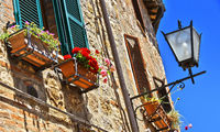 Street of Cetona in Tuscany