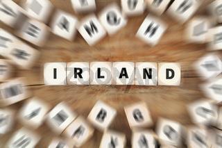Irland Land Reise reisen Würfel Business Konzept