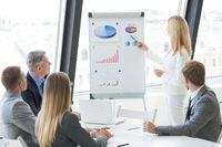 Business presentation of statistics
