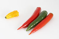 Bunte Chilischoten/Colored chili peppers
