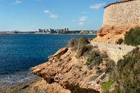 Cabo Roig and coastline of Dehesa de Campoamor. Costa Blanca. Spain
