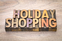 holiday shopping word abstract