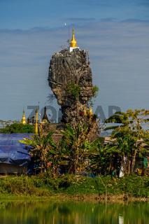 Kyauk Kalap Pagoda near Hpa-An, Myanmar (Burma)