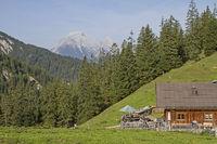Oberbrunn hut in Karwendel mountains