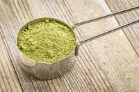 scoop of matcha green tea powder