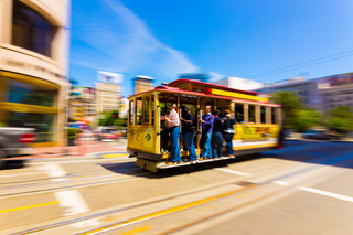 Motion Blur San Francisco Cable Car Union Square