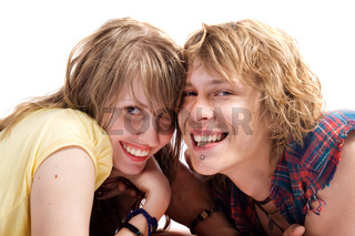 Portrait of smiling young beauty couple 6