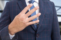 Realtor hand showing number four