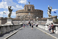 Castel Sant Angelo, castle, Ponte Sant Angelo, bridge, Rome, Italy, Europe