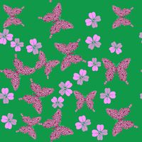 Butterfly and flower seamless texture 658