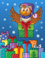 Owl with gift theme image 8