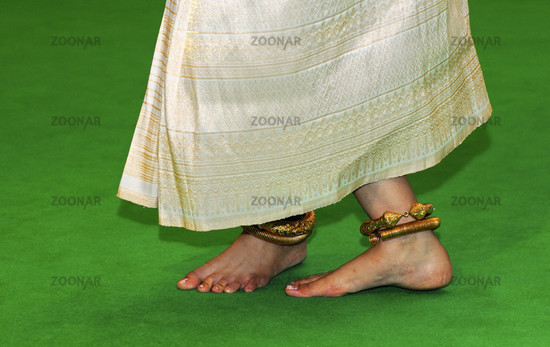 Foot position at the classical Khmer dance