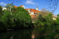 city of Tuebingen; Germany; River Neckar;