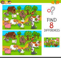 find differences with farm animal characters