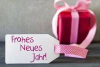 Pink Gift, Label, Frohes Neues Jahr Means Happy New Year