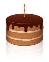 Vector Chocolate cake
