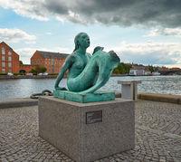 The copy of Anne Marie Carl-Nielsen's Mermaid in Copenhagen.