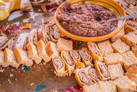 Platter with Slovenian sweets and cakes