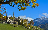 View at Guarda, municipality of Scuol, Engadine, Graubünden,Switzerland