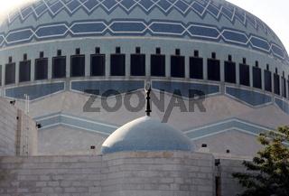 Die King Abdullah Moschee in der Jordanieschen Hauptstadt Amman