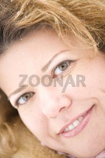 Portrait woman macro