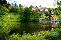 Village and Lake