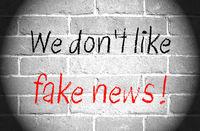 We don't like fake news