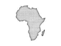 Karte von Afrika auf altem Leinen - Map of Africa on old linen