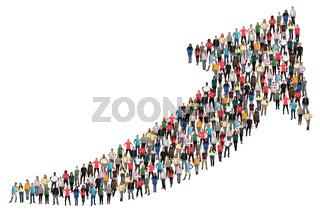 Menschen Gruppe Leute Menschengruppe Erfolg Wirtschaft Wachstum erfolgreich Business