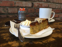 Morning tea break cafe coffee and cake