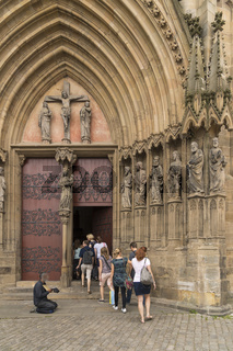 Bettler vor Kirche, Erfur