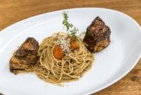 Spaghetti with Pork Belly