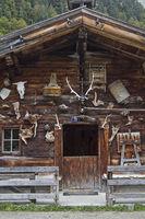 Curious alpine pasture decoration