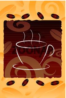 coffee mug on cofee bean background