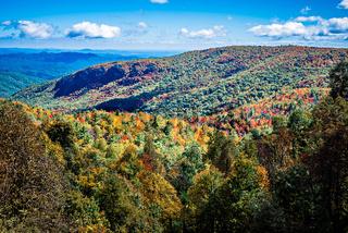 autumn season on blue ridge parkway