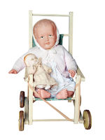 Antique Dolls Pushchair with two dolls
