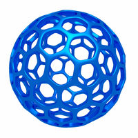 Abstract polygonal sphere of information, 3d sign, geometry element
