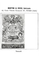 Historical trademark for IMartini Rossi vermouth from 1896