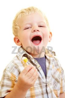 Kind mit Lutscher
