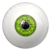 green human eye ball